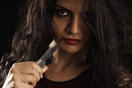 Psychic Reading With A Woman with A knife