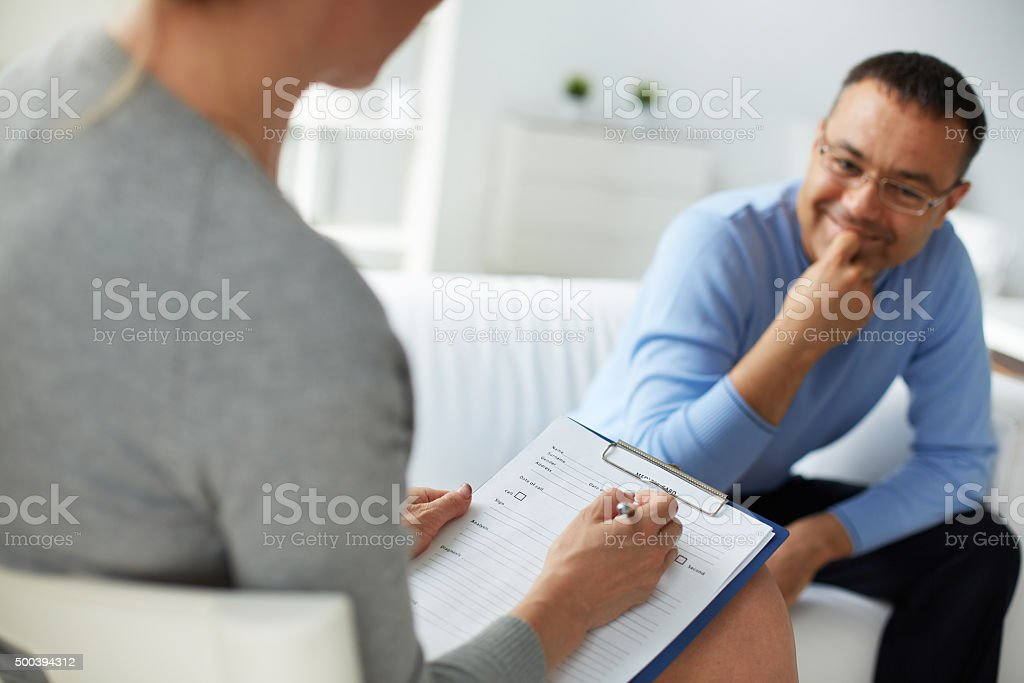 Psychological counsel stock photo
