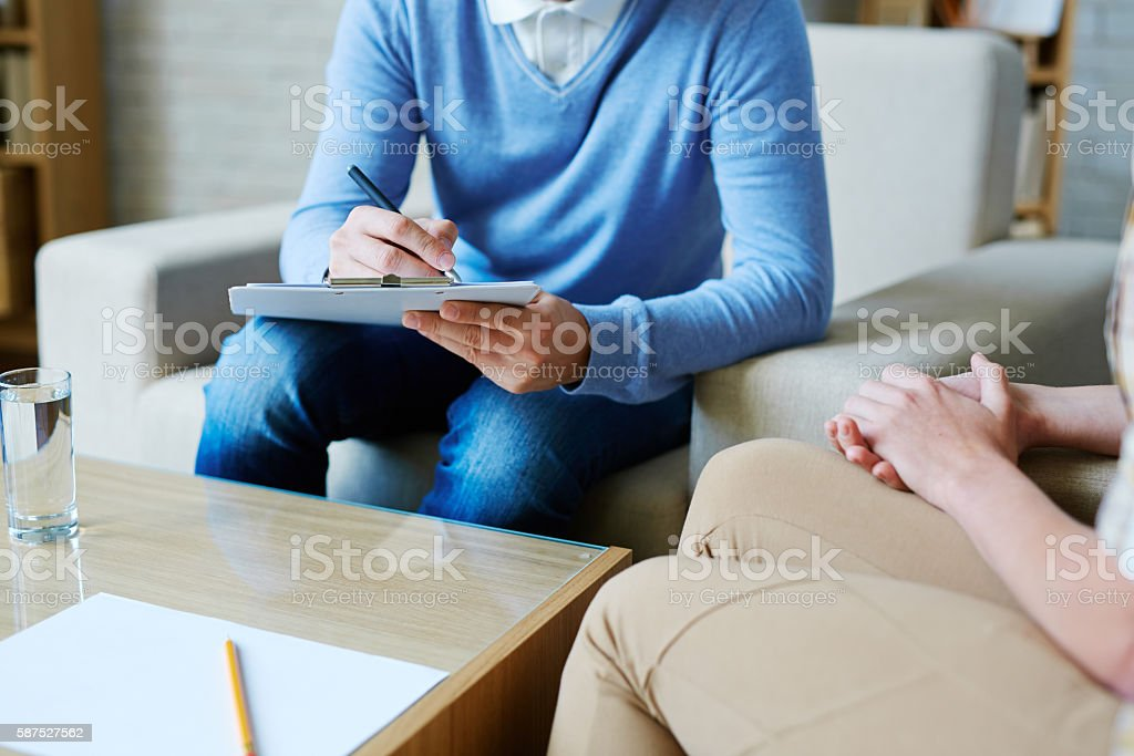 Psychological notes stock photo