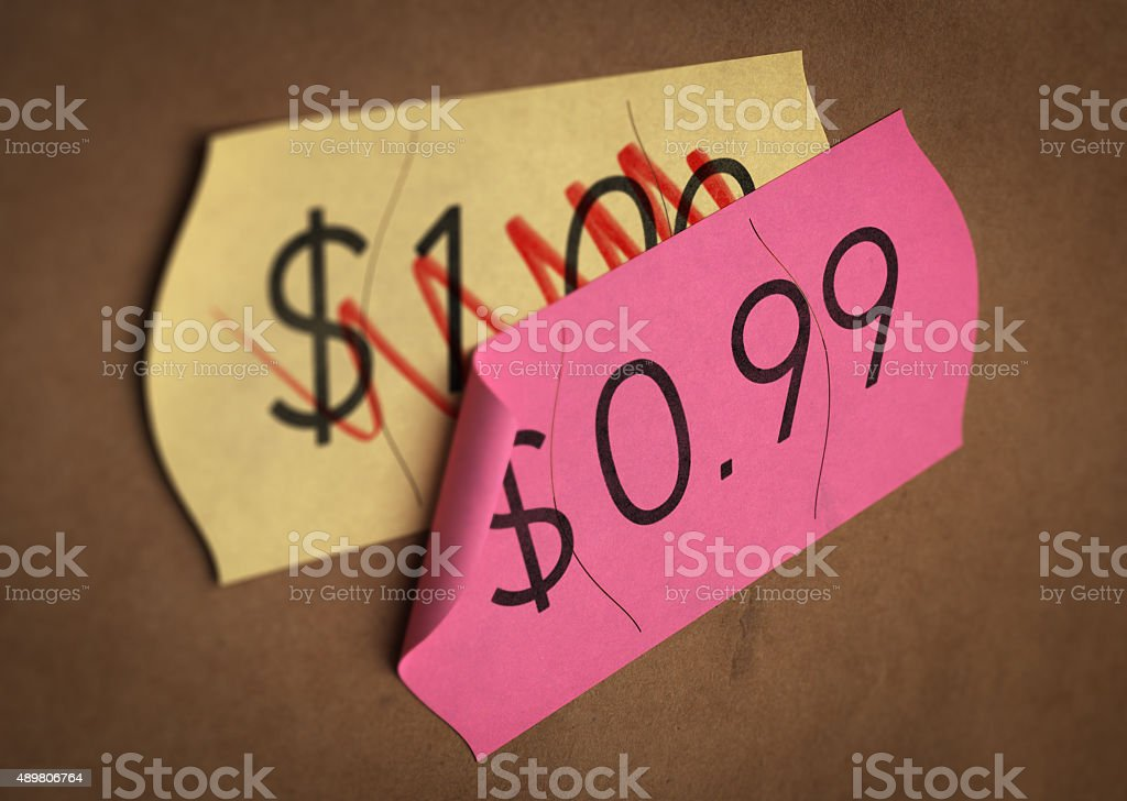 Psychological Pricing. stock photo