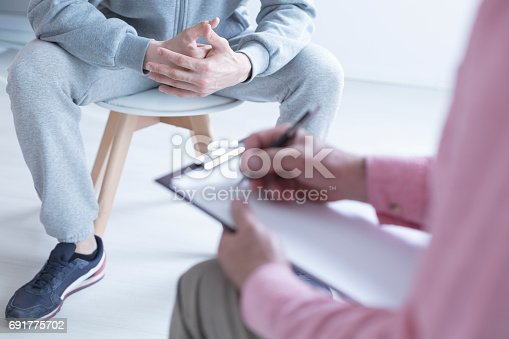 618070568 istock photo Psychologist taking notes 691775702