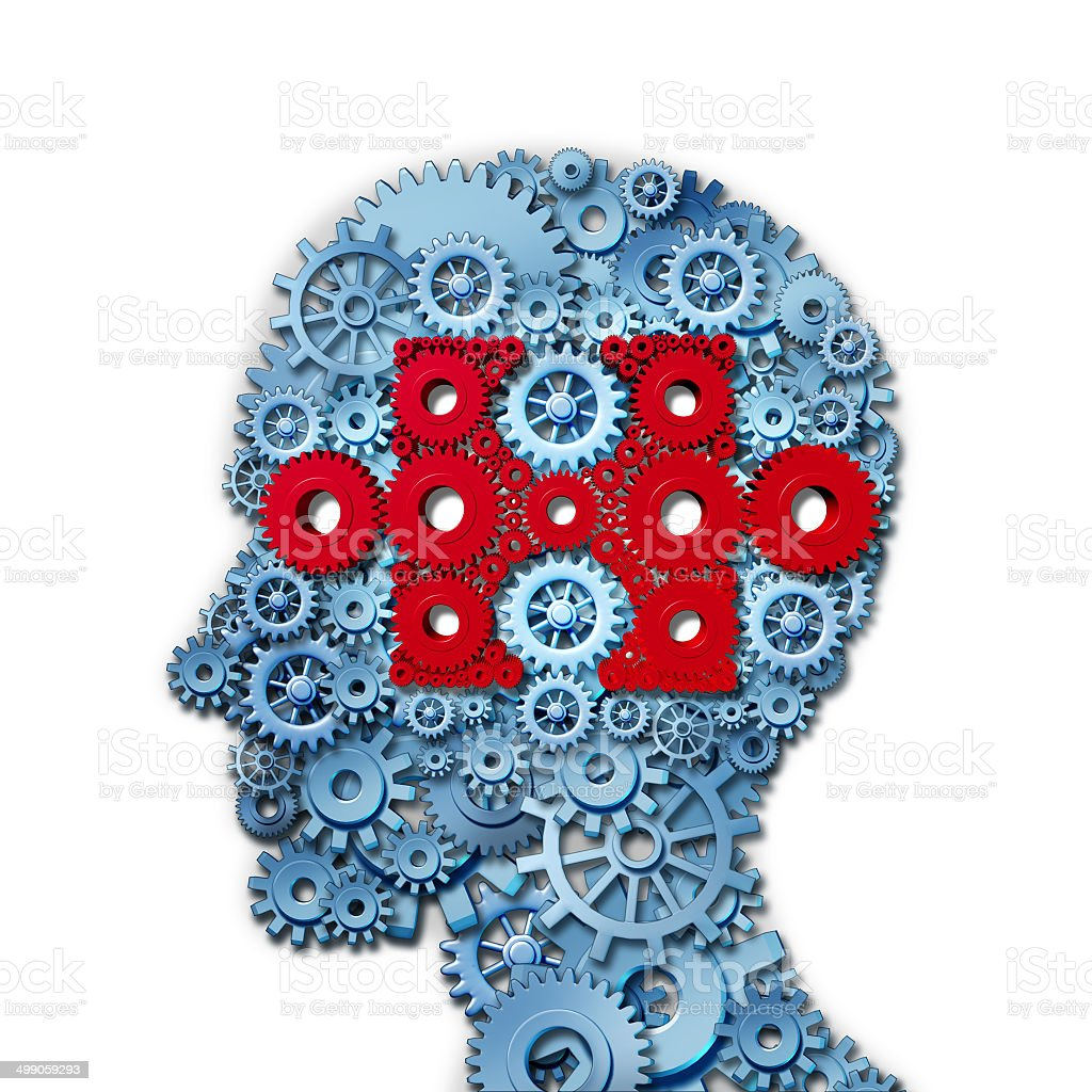Psychology Puzzle Head stock photo