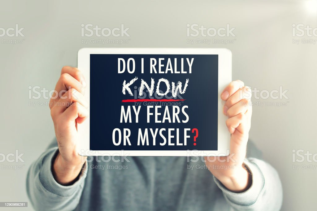 Psychology question of knowing yourself as a question addressed to your inner person to meditate Psychology question of knowing yourself as a question addressed to your inner person to meditate Asking Stock Photo