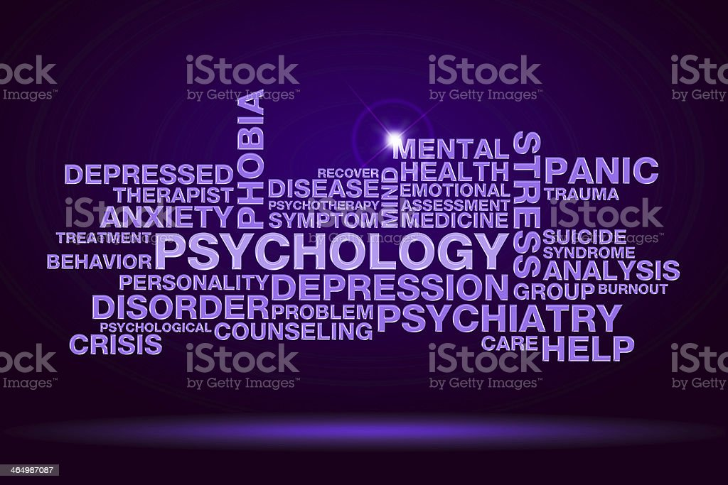 psychology word cloud stock photo