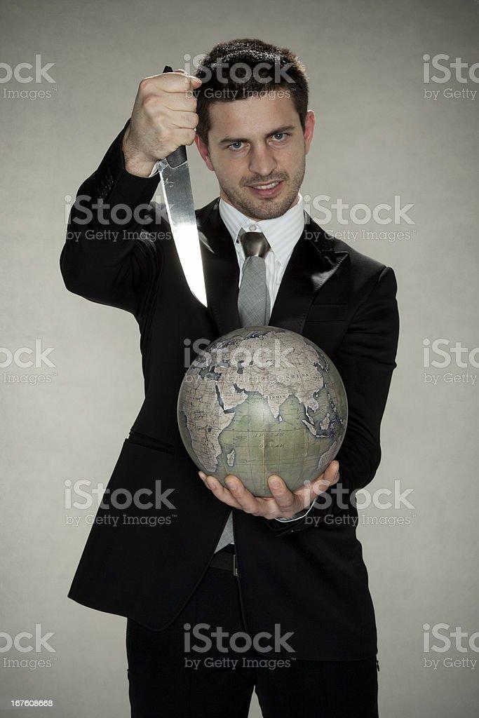 psychopath wants to kill planet royalty-free stock photo