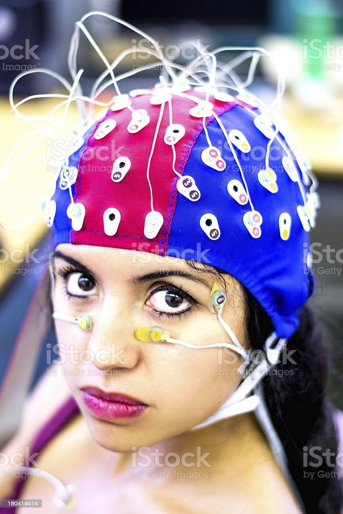 Psychophysiological measurements royalty-free stock photo
