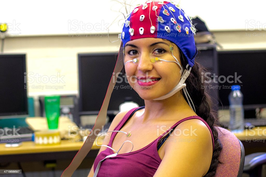 Psychophysiological measurements stock photo