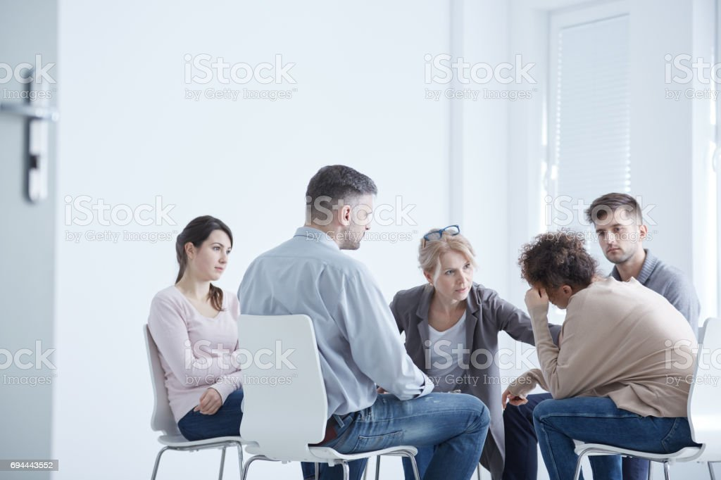 Psychotherapy for anxiety disorder stock photo