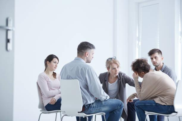 psychothérapie pour le trouble d'anxiété - hopital psychiatrique photos et images de collection