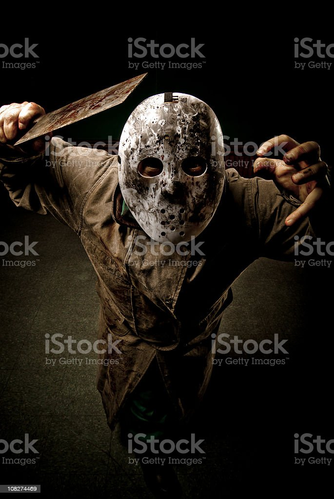 Psychotic personagem com Cleaver - foto de acervo