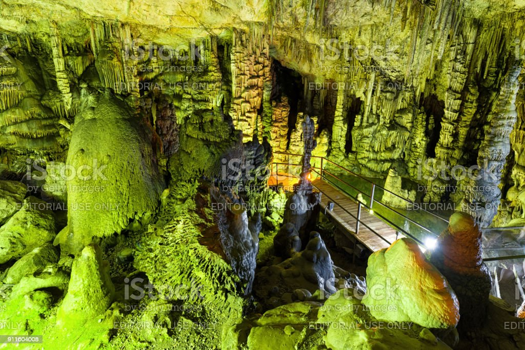 Psychro cave in Crete, Greece stock photo