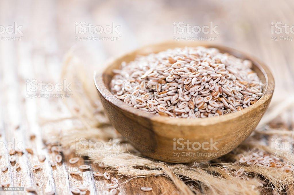 Psyllium Seeds in a bowl stock photo