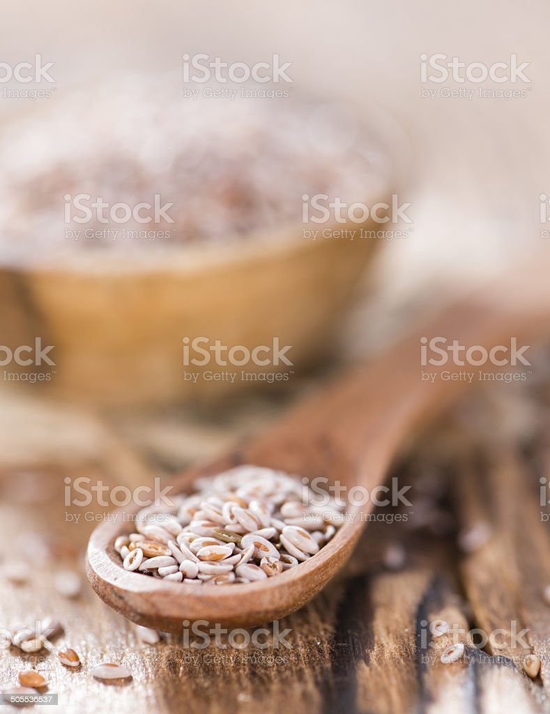 Psyllium Seeds stock photo