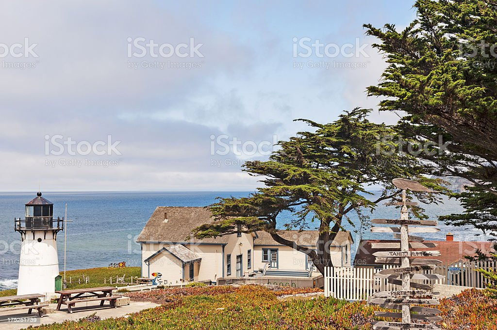 Pt Montara Lighthouse and Grounds royalty-free stock photo