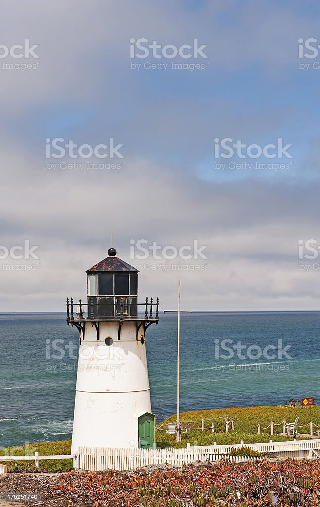 Pt Montara Lighthouse overlooking the Coast stock photo