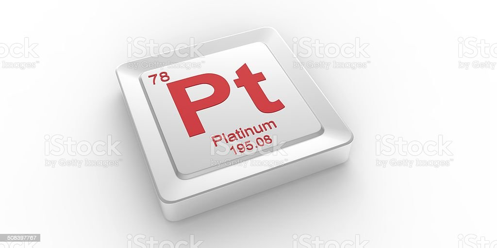 Pt Symbol 78 Material For Platinum Chemical Element Stock Photo