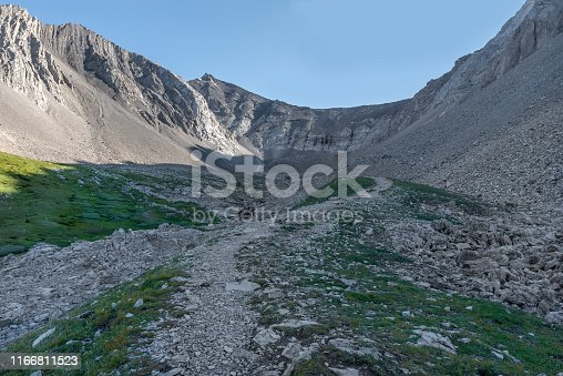 Ptarmigan Cirque located in the Highwood Pass in Alberta, Canada