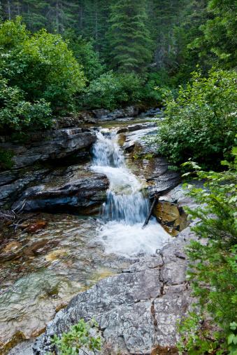 Ptarmigan Creek Falls Stock Photo - Download Image Now