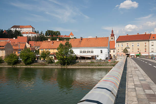 Ptuj - Drava river stock photo