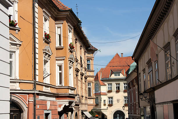 Ptuj - Old town center stock photo