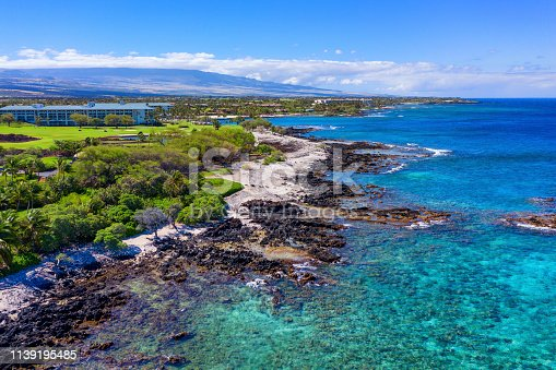 Puako Beach Big Island Hawaii Aerial view