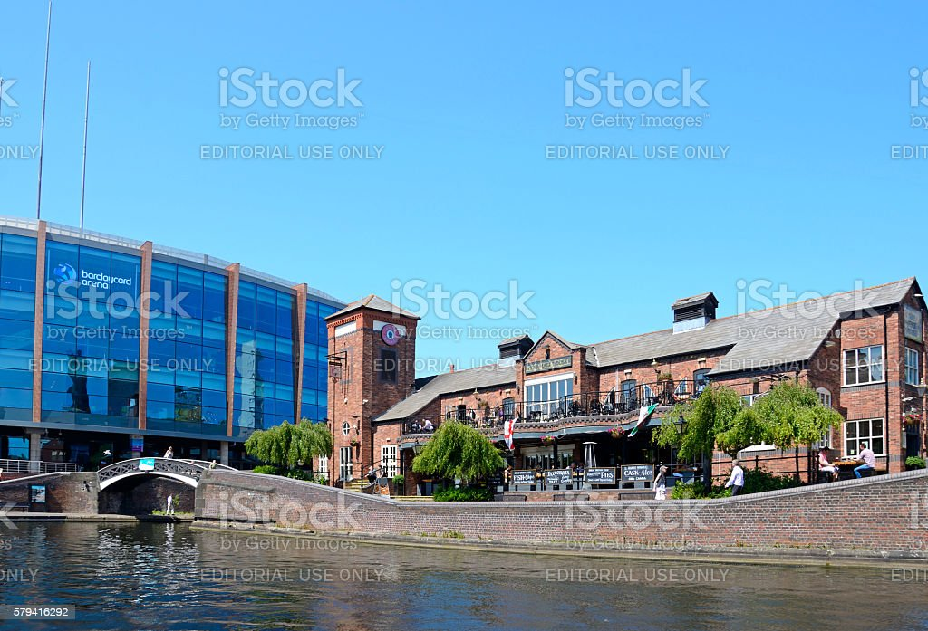 Pub and NIA at Old Turn Junction, Birmingham. stock photo