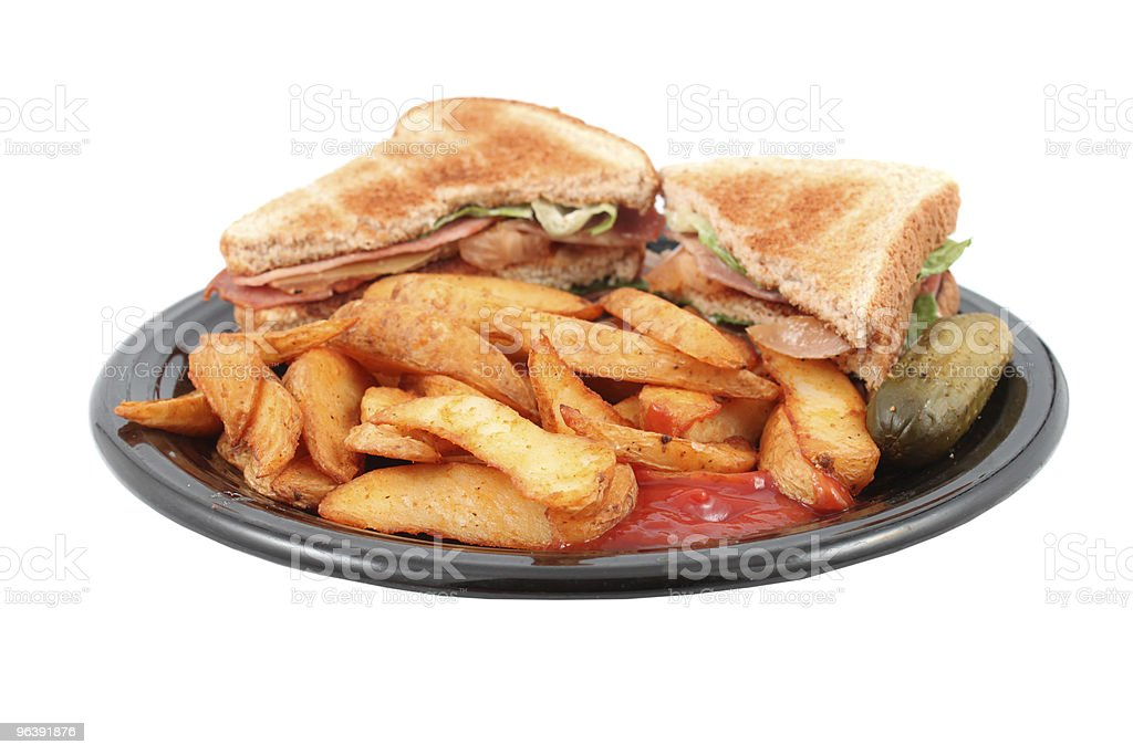 pub blt and fries meal - Royalty-free Bacon Stock Photo