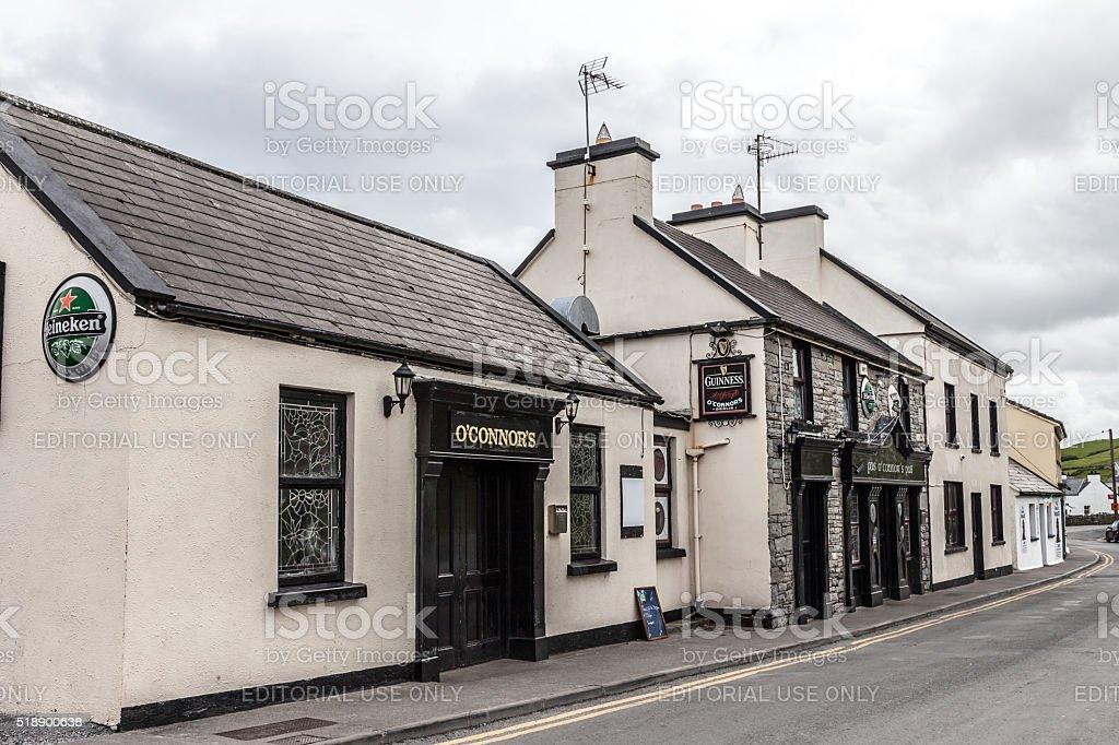 Pub, Doolin village, County Clare, Ireland stock photo