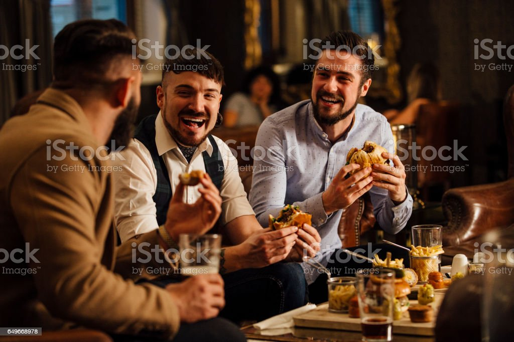 Pub Food And Drinks stock photo