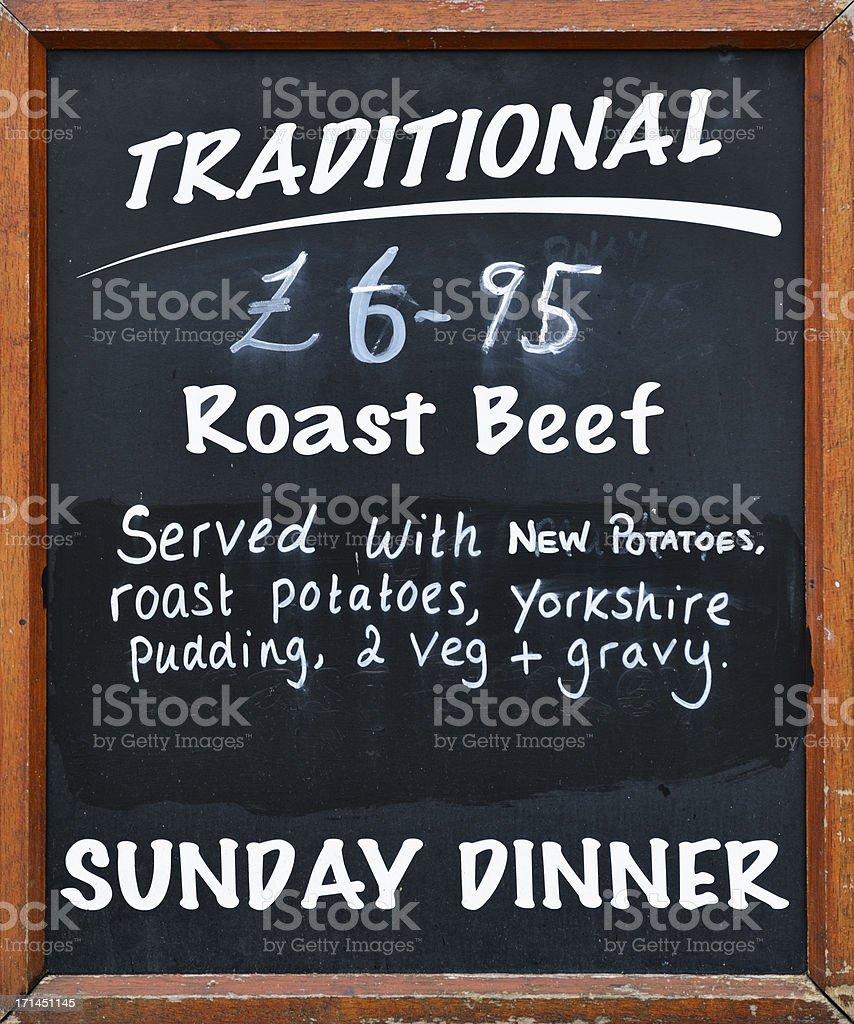 Pub grub sign outide an English public house stock photo