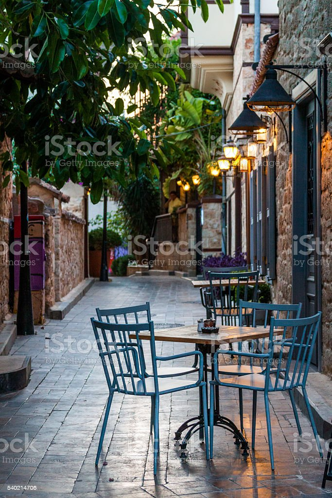 Pub in an old town stock photo