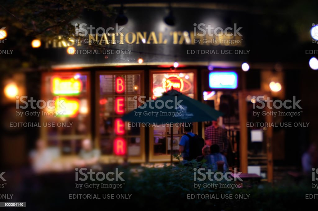Pub in Downtown Eugene Oregon stock photo