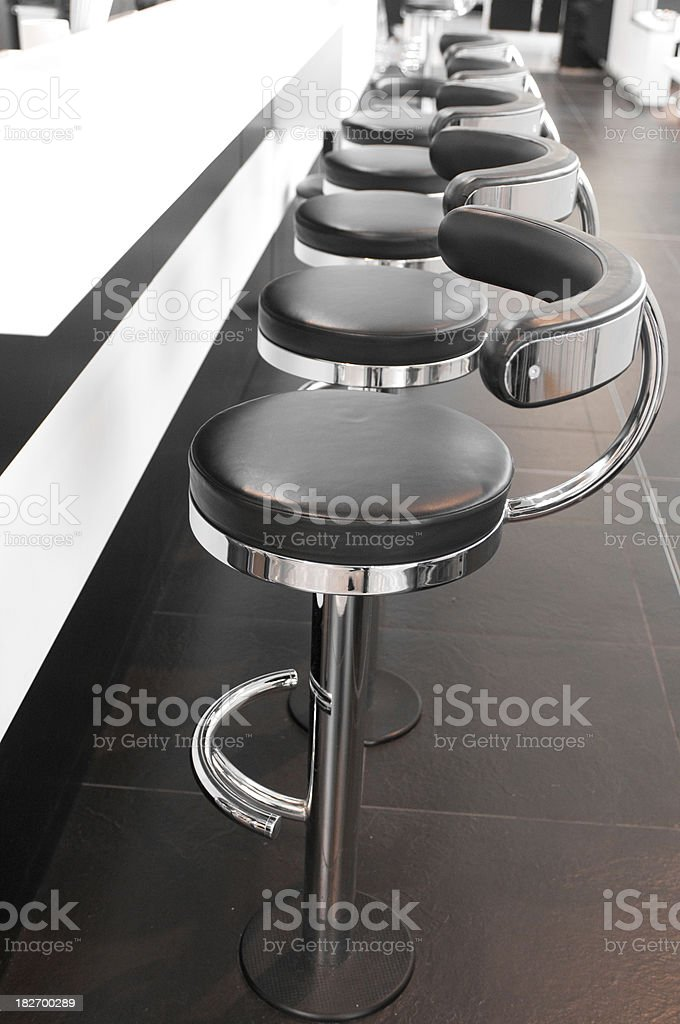Stools in a pub or lounge.