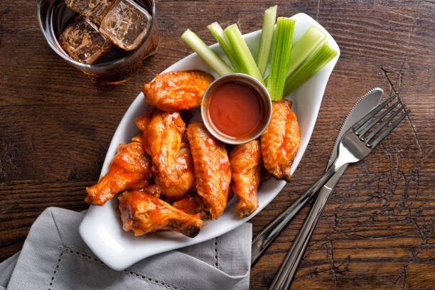 Pub Style Chicken Wings stock photo