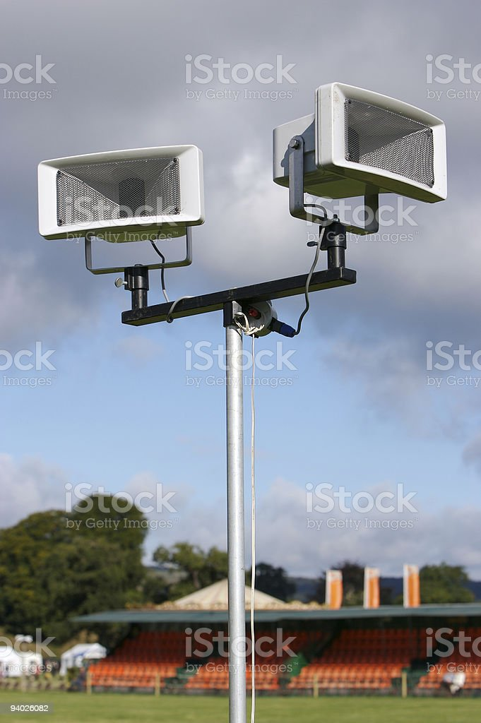 Public address system at Country Fair Sports Arena stock photo
