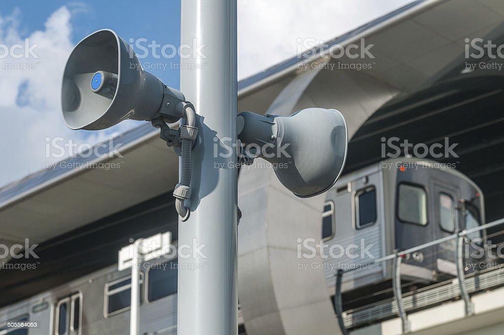 Public address system stock photo