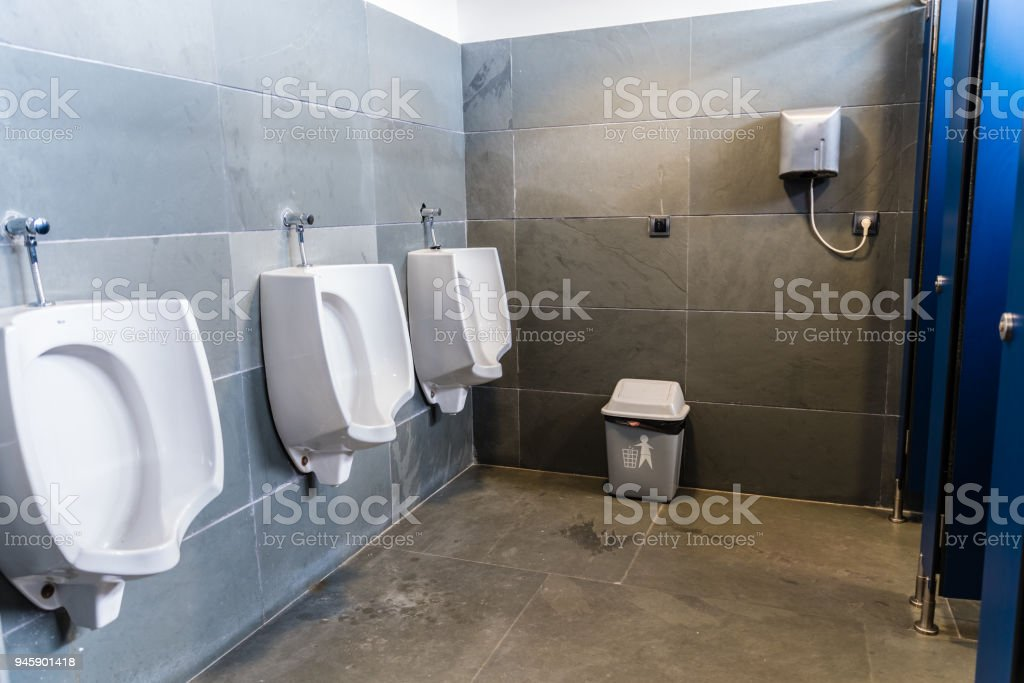 public bath of men stock photo