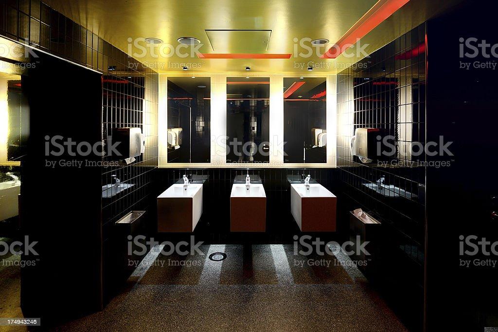 Public bathroom, sinks royalty-free stock photo