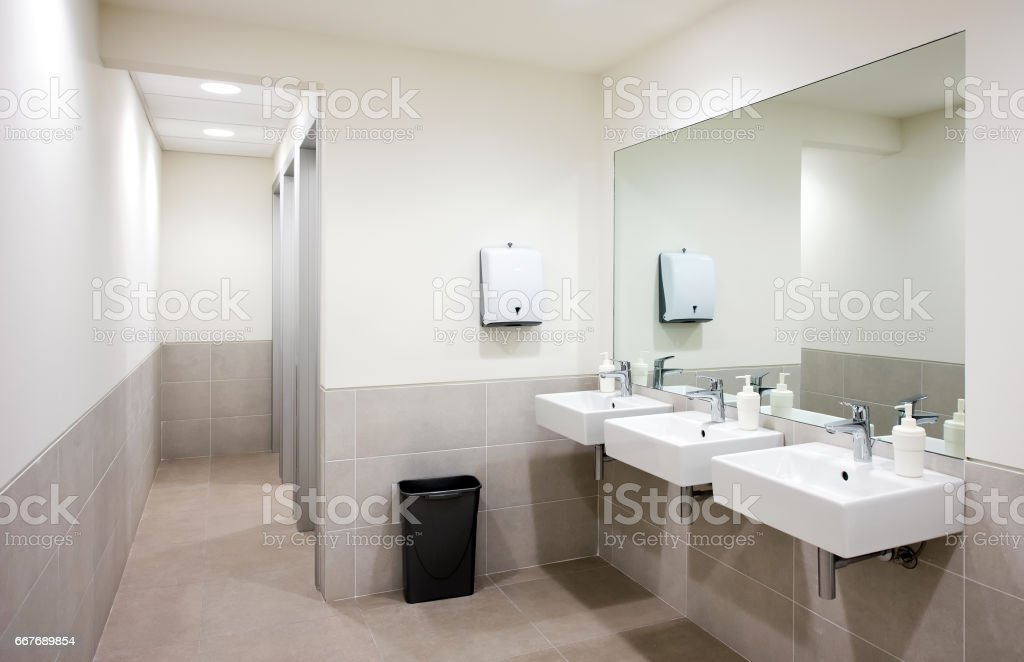 Public Bathroom Sinks Stock Photo Download Image Now Istock