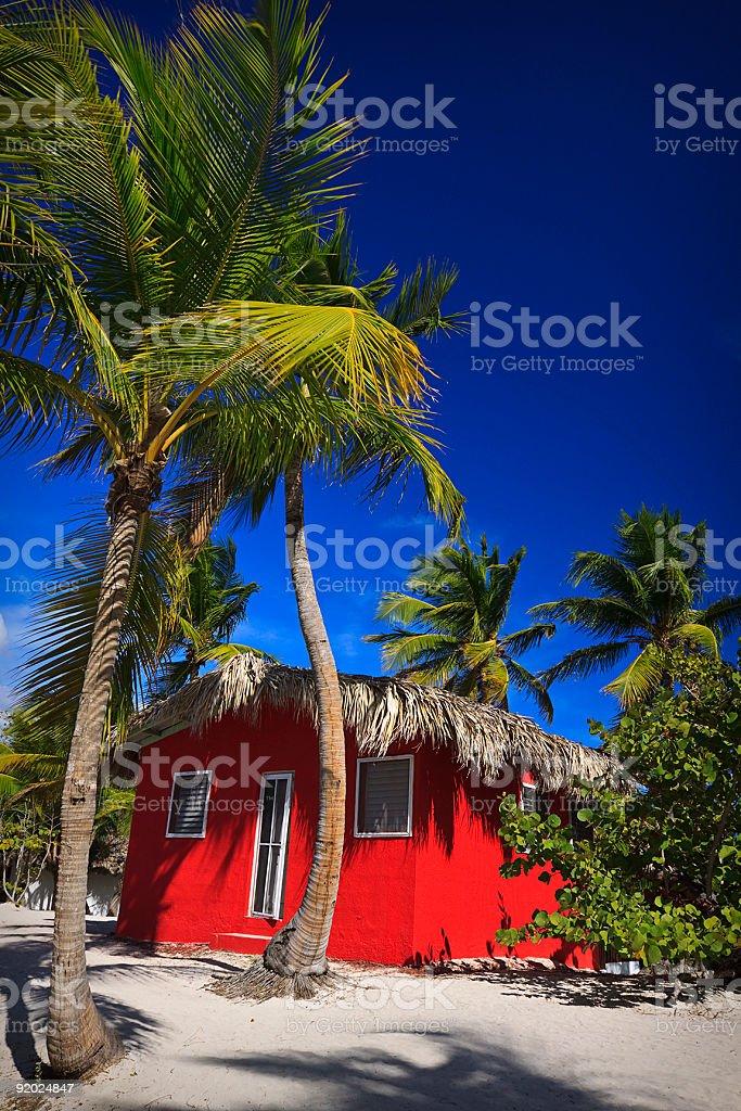 Public Beach on Catalina Island, Dominican Republic royalty-free stock photo