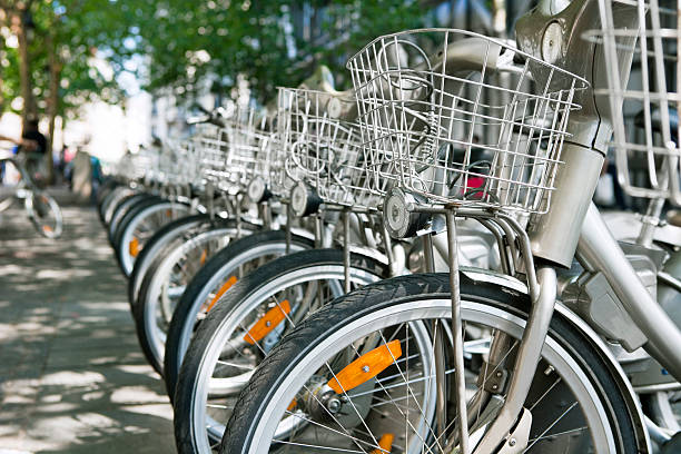 Public Bicycle sharing system stock photo