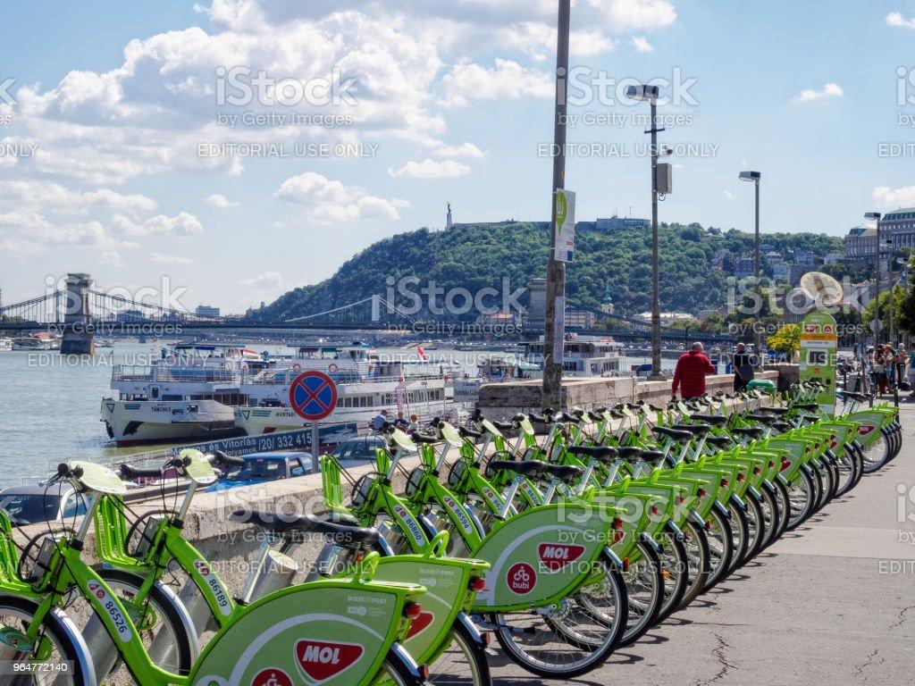 Public bike sharing - Budapest royalty-free stock photo