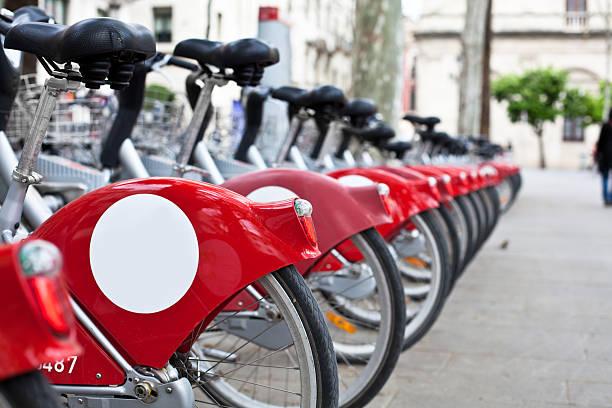 Public Bikes for Rent stock photo