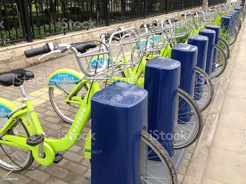 Public Bikes royalty-free stock photo