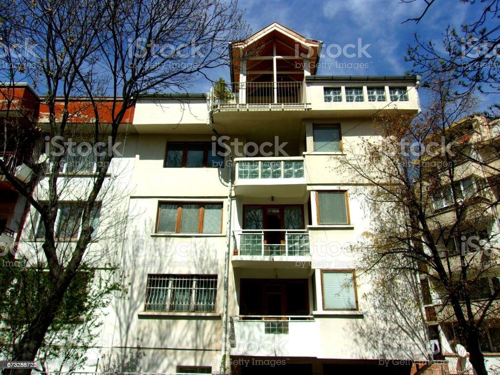 Public building facade stock photo