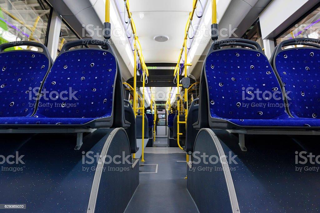 Public bus inside - foto de stock
