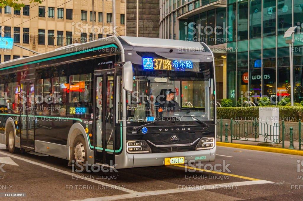Public bus, Pudong, Shanghái - Foto de stock de Aire libre libre de derechos