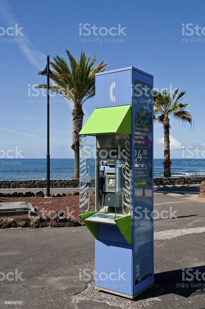 Public call-box . stock photo