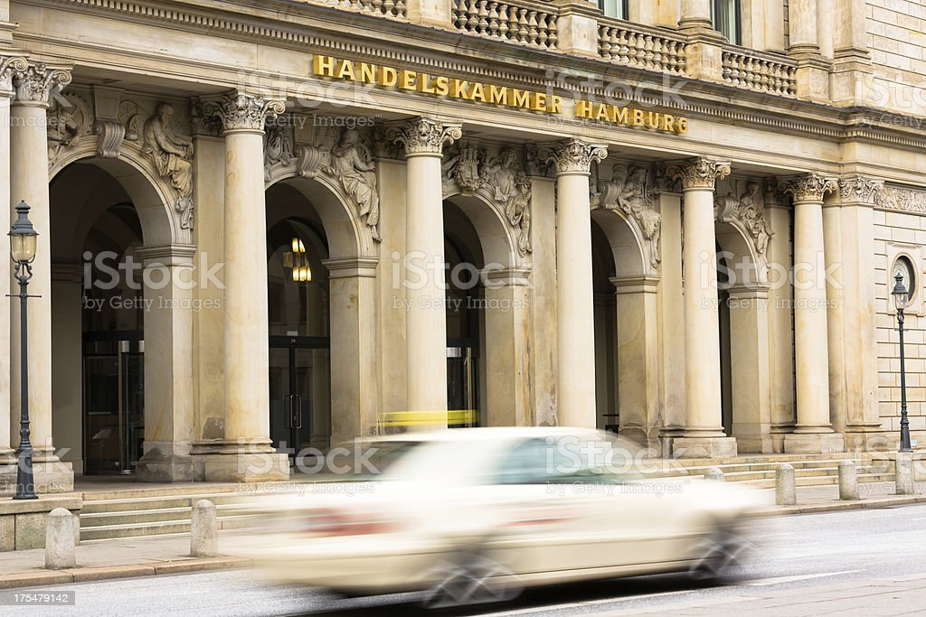 Entrance to the public chamber of commerce on the backside of the...