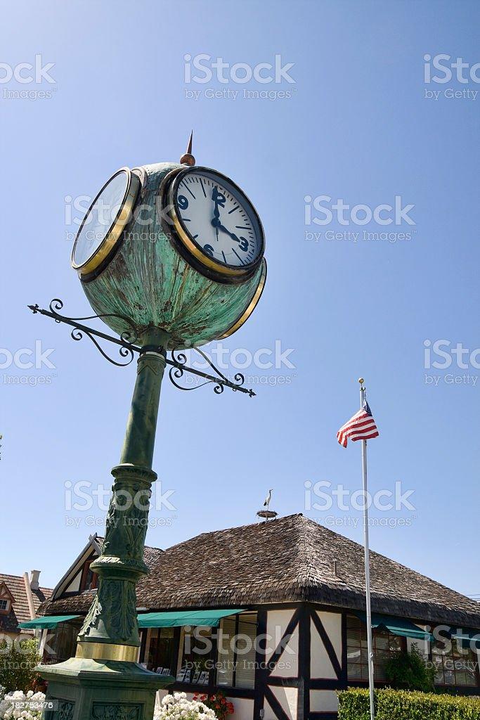 Public Clock stock photo